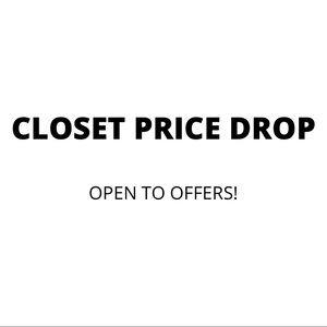 CLOSET PRICE DROP!